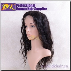Indian Wavy Full lace Wig 100% human virgin hair