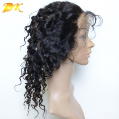 360 Lace Frontal 22.5x4x2, Human Virgin Hair Italian curly Full Lace Band Frontal