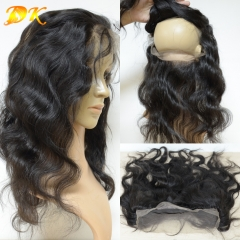 360 Lace Frontal 22.5x4x2, Human Virgin Hair body wave Full Lace Band Frontal