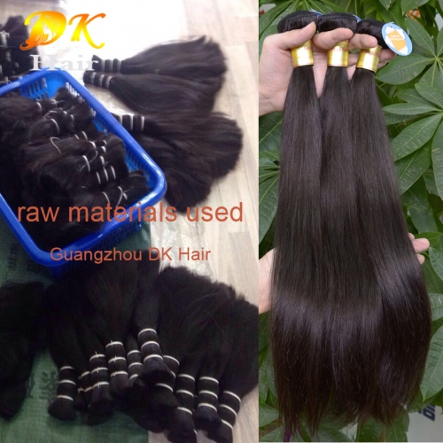 3 or 4 bundles Straight Hair brazilian virgin hair weave 5A+