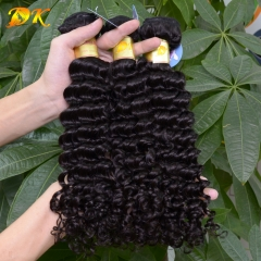 3 or 4 bundles Deep Curly brazilian virgin hair weave 5A+