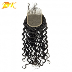 Deluxe Deep Curly  Virgin hair Lace Closure Lace Frontal 4x4 5x5 6x6 7x7 13x4 13x6