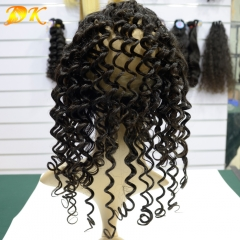 360 Lace Frontal 22.5x4x2, Human Virgin Hair Deep Wave Full Lace Band Frontal