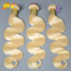 Blonde 613# Body Wave 3/4 Bundles deal Luxury Raw Indian Hair