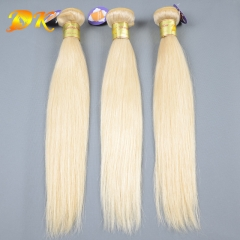 Blonde 613# Straight 3/4 Bundles deal Luxury Raw Indian Hair