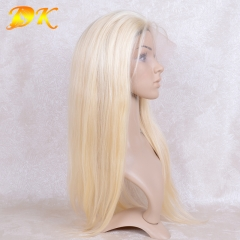 613# Blonde Straight Full lace Wig 100% human virgin hair