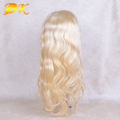 613# Blonde Body Wave Half lace frontal Wig 100% human virgin hair