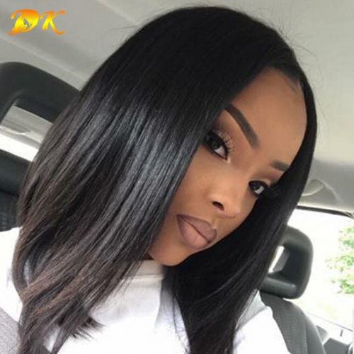 Straight Bob Half lace Wig 100% human virgin hair Hearts-A