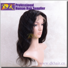 Indian wave Hair Full lace Wig 100% human Deluxe hair