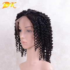 Indian Wave Hair Half lace frontal Wig 100% human Plus hair