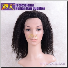 Kinky Curly Hair Full lace Wig 100% human Regular hair