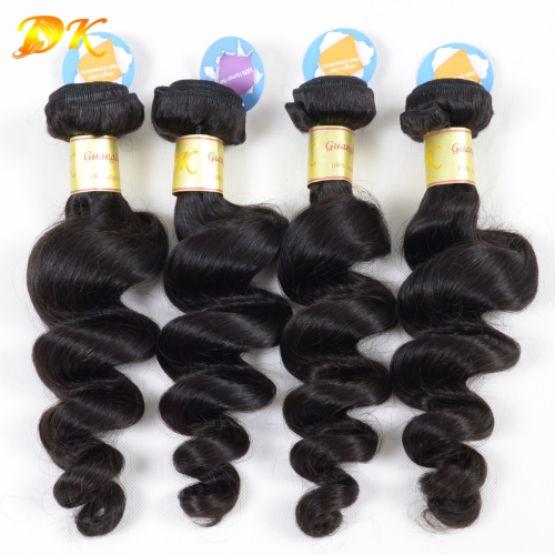 3 or 4 bundles + Closure Frontals Loose Wave Brazilian virgin hair weave 5A+