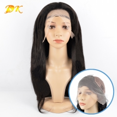Straight Hair Half 13x4 13x6 360 lace frontal Wig Deluxe virgin hair