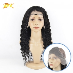Deep Wave 13x4 13x6 360 lace frontal Wig Deluxe virgin hair