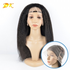 Kinky Straight Hair Full lace Wig 100% human Deluxe hair