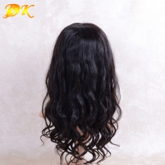 Natural Wave Half lace frontal Wig 100% human virgin hair