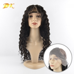 French Wave Hair Half lace frontal Wig 100% human Regular hair