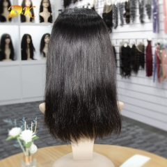 Straight Bob Half lace Wig 100% human virgin hair Deluxe Virgin Hair