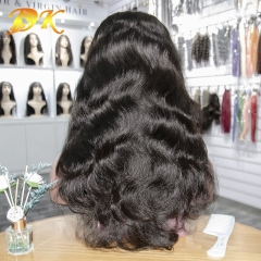 Body wave Hair Half lace frontal Wig 100% human Plus hair