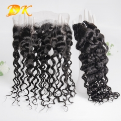 Italian Curly Bundle deals with Frontal 13x4 13x6 Deluxe Virgin Hair