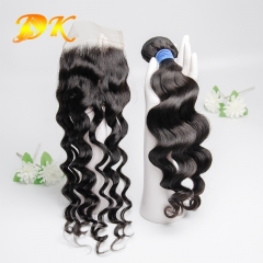 Big Curl Bundle deals with Closure 4x4 5x5 6x6 Deluxe Virgin Hair