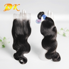 Body Wave Bundle deals with Closure 4x4 5x5 6x6 Deluxe Virgin Hair