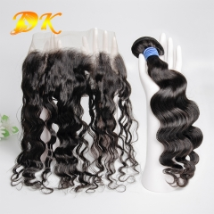Big Curly Bundle deals with Frontal 13x4 13x6 Deluxe Virgin Hair