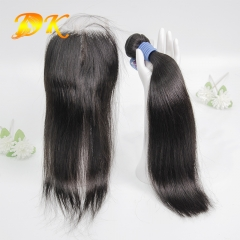 Straight Bundle deals with Closure 4x4 5x5 6x6 Deluxe Virgin Hair