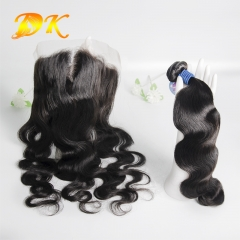 Body Wave Bundle deals with Frontal 13x4 13x6 Deluxe Virgin Hair