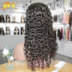 Deep Wave Hair Full lace Wig 100% human Plus hair